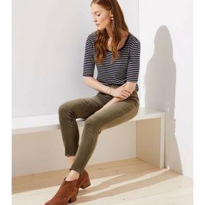 LOFT Modern Skinny Olive Corduroy Pants Jeans